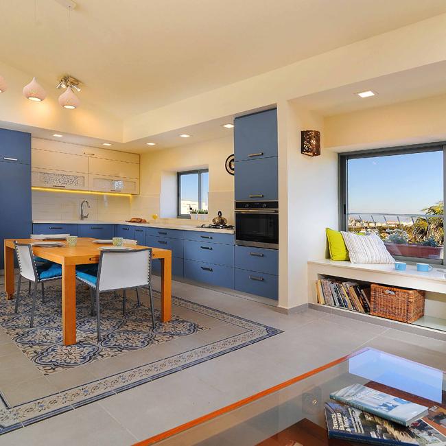 תכנון ועיצוב דירה בסגנון וינטג' עדכני